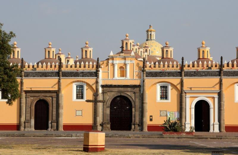 Monasterio de Gabriel Archangel del santo, Cholula, Puebla, México imagen de archivo
