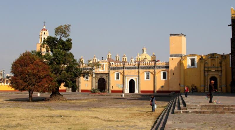 Monasterio de Gabriel Archangel del santo, Cholula, Puebla, México fotos de archivo