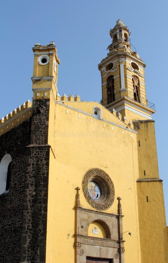 Monasterio de Gabriel Archangel del santo, Cholula, Puebla, México imágenes de archivo libres de regalías
