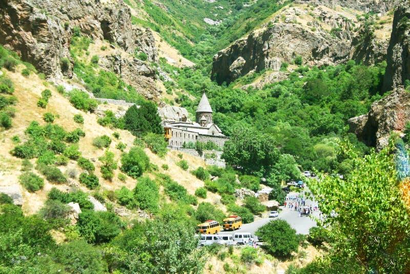 Monasterio de Geghard imagen de archivo libre de regalías