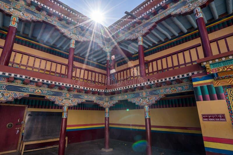 Monasterio de Hemis, los monasterios m?s grandes y m?s populares de Ladakh imagen de archivo