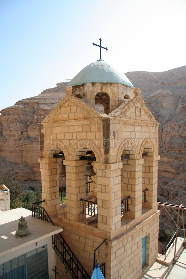 Monasterio de Hozeva en Israel foto de archivo