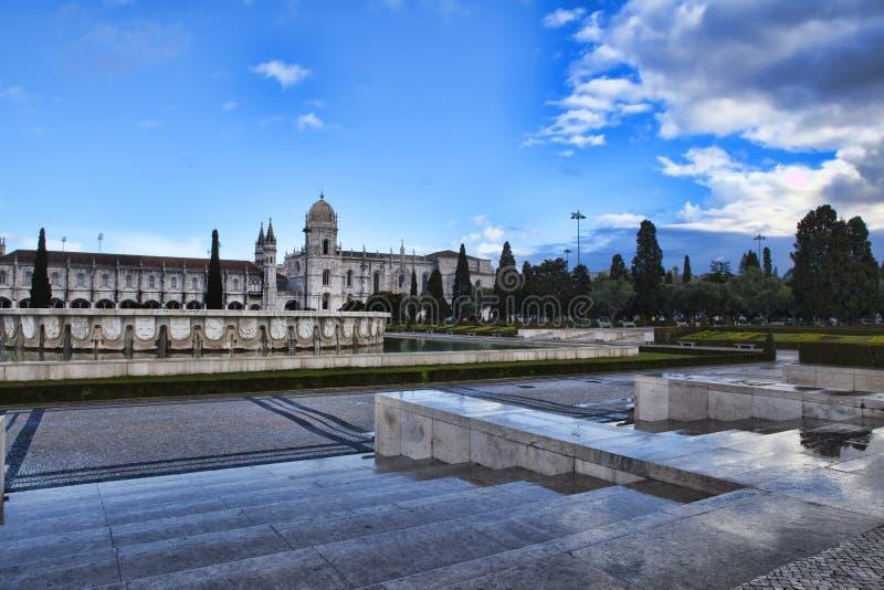 Monasterio de Jeronimo en Lisboa imagenes de archivo