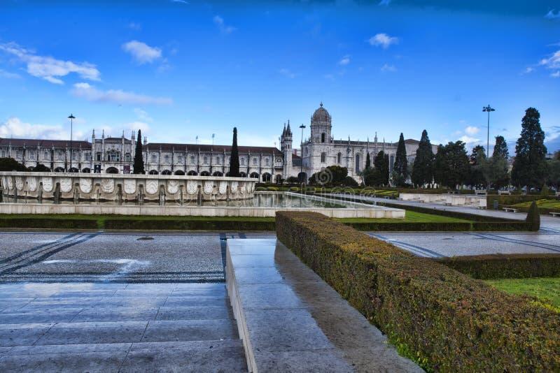 Monasterio de Jeronimo en Lisboa foto de archivo