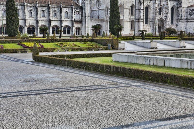 Monasterio de Jeronimo en Lisboa imagen de archivo