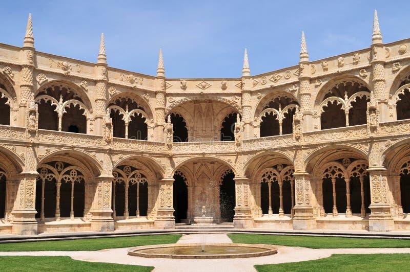 Monasterio de Jeronimo, Lisboa fotos de archivo