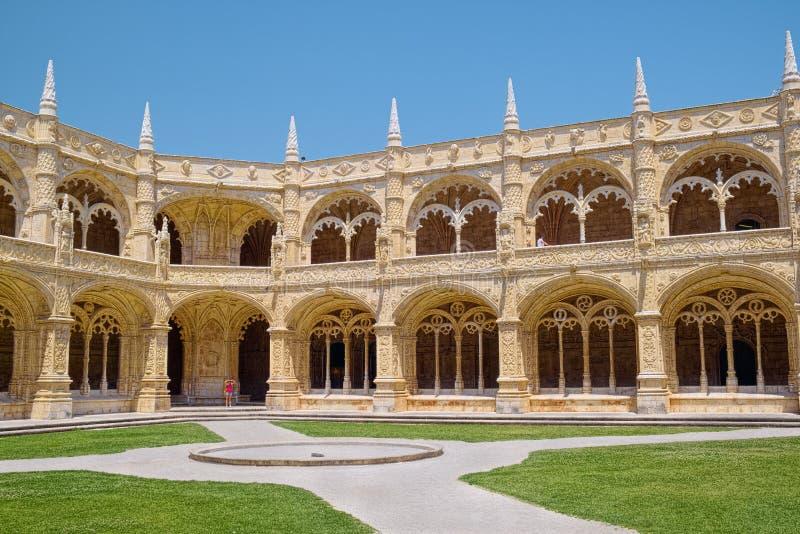 Monasterio de Jeronimos, Lisboa, Portugal foto de archivo libre de regalías