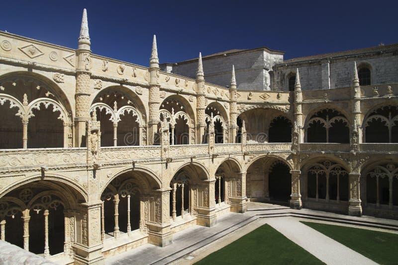 Monasterio de Jeronimos Portugal en Lisboa imagen de archivo
