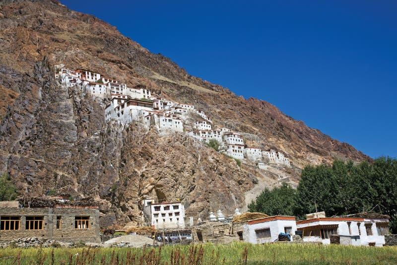 Monasterio de Karsha, Zanskar, Ladakh, Jammu y Cachemira, la India imagen de archivo