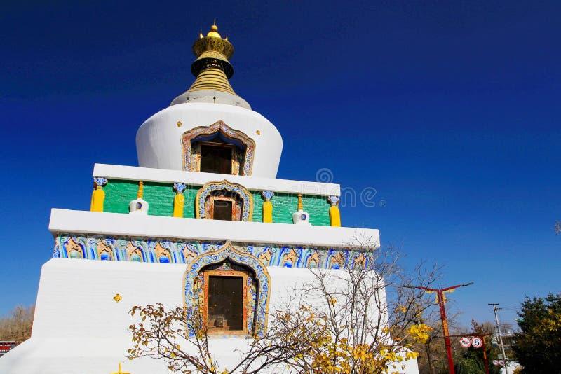 Monasterio de Kumbum, taersi, en Qinghai, China fotos de archivo