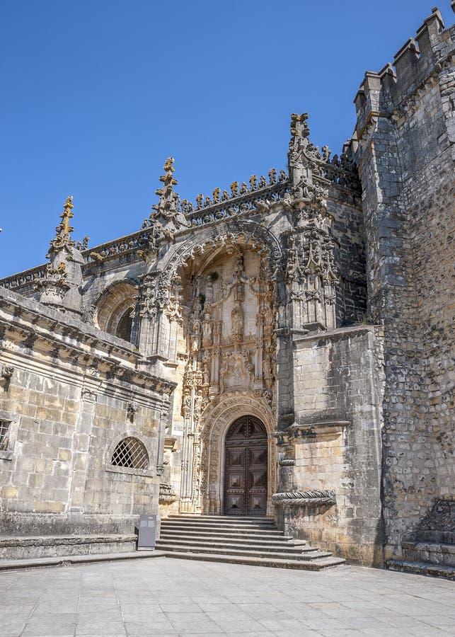 Monasterio de la orden de Cristo - la entrada principal imagen de archivo libre de regalías