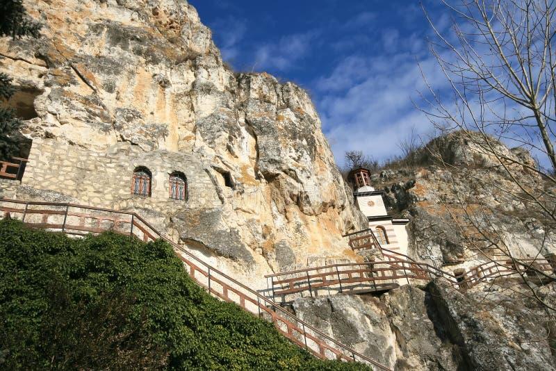 Monasterio de la roca imagen de archivo