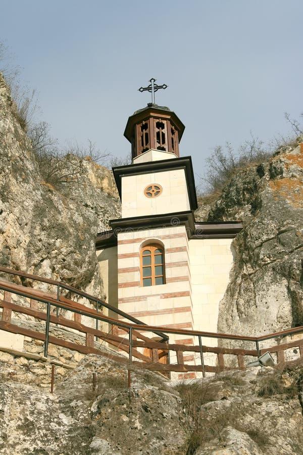 Monasterio de la roca imagen de archivo libre de regalías