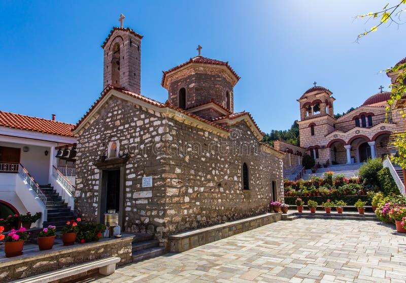 Monasterio de la suposición en Malevi, Arcadia, Grecia fotografía de archivo libre de regalías