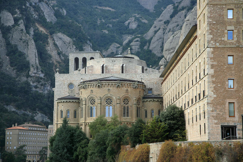 Monasterio de Montserrat foto de archivo