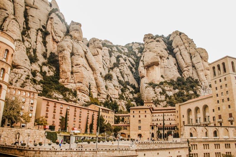 Monasterio de Montserrat en Cataluña, España foto de archivo libre de regalías