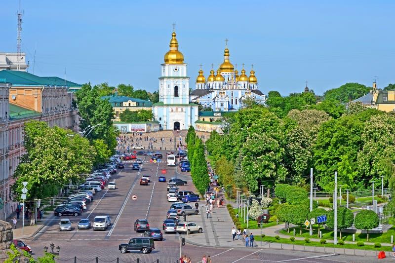 Monasterio De oro-abovedado del ` s de San Miguel en Kiev, Ucrania, imágenes de archivo libres de regalías