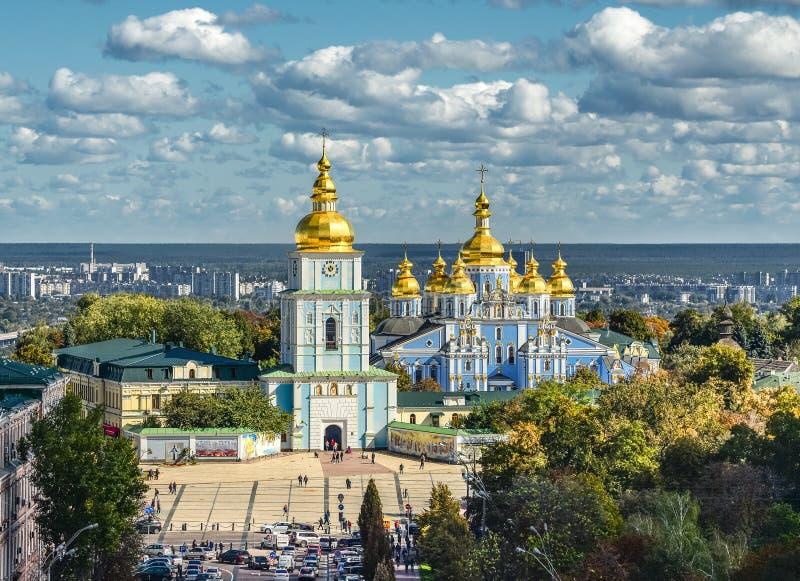 Monasterio De oro-abovedado del ` s de San Miguel, Kiev, Ucrania imagen de archivo libre de regalías