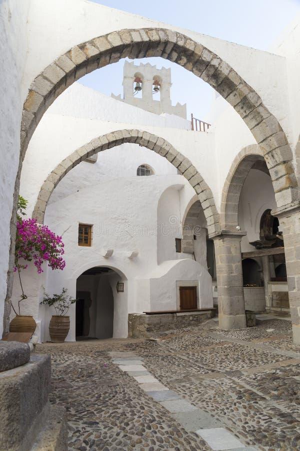 Monasterio de Patmos de San Juan imagen de archivo libre de regalías