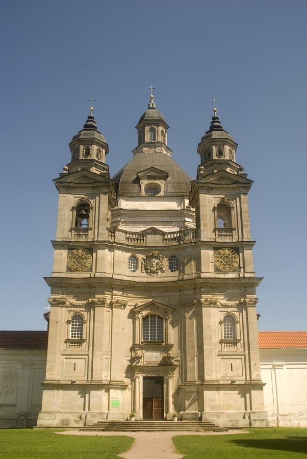 Monasterio de Pazaislis, Kaunas, Lituania foto de archivo