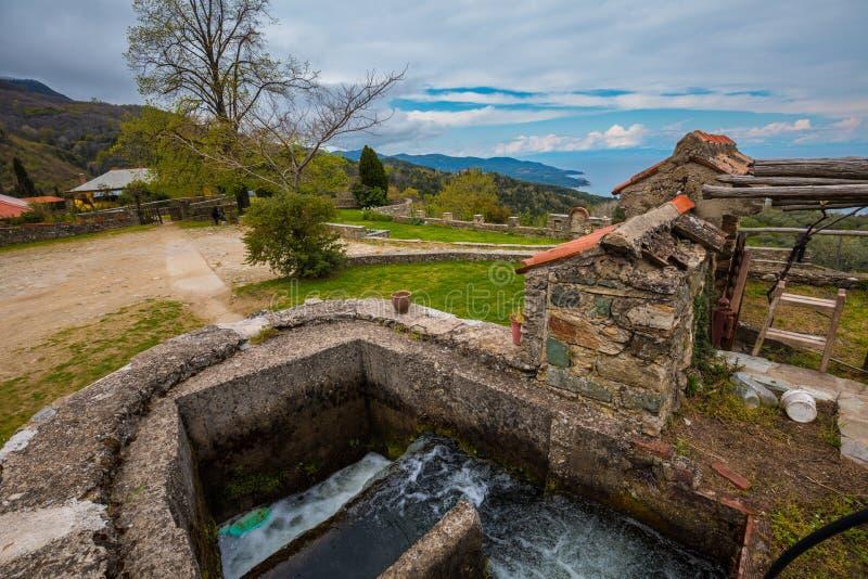 Monasterio de Philotheou en el monte Athos imágenes de archivo libres de regalías