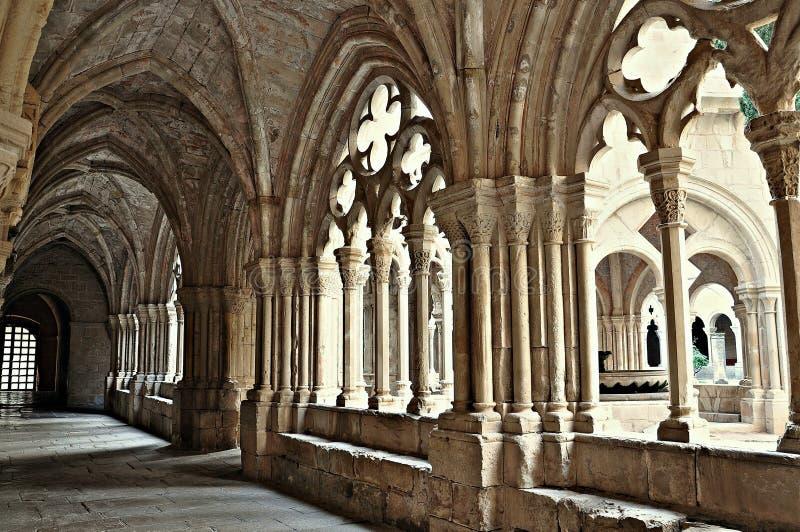Monasterio de Poblet fotografía de archivo