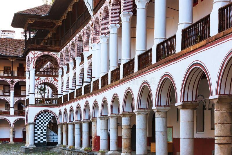 Monasterio de Rila, Bulgaria foto de archivo