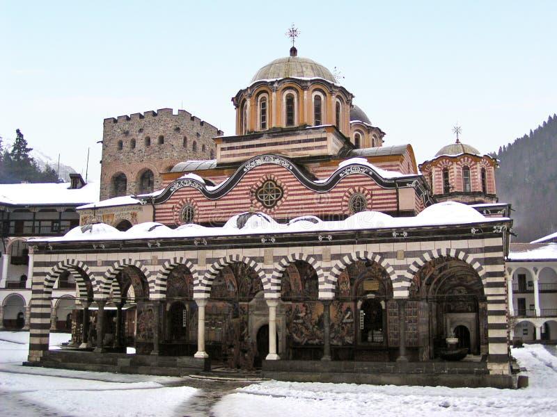 Monasterio de Rila (Bulgaria) fotos de archivo