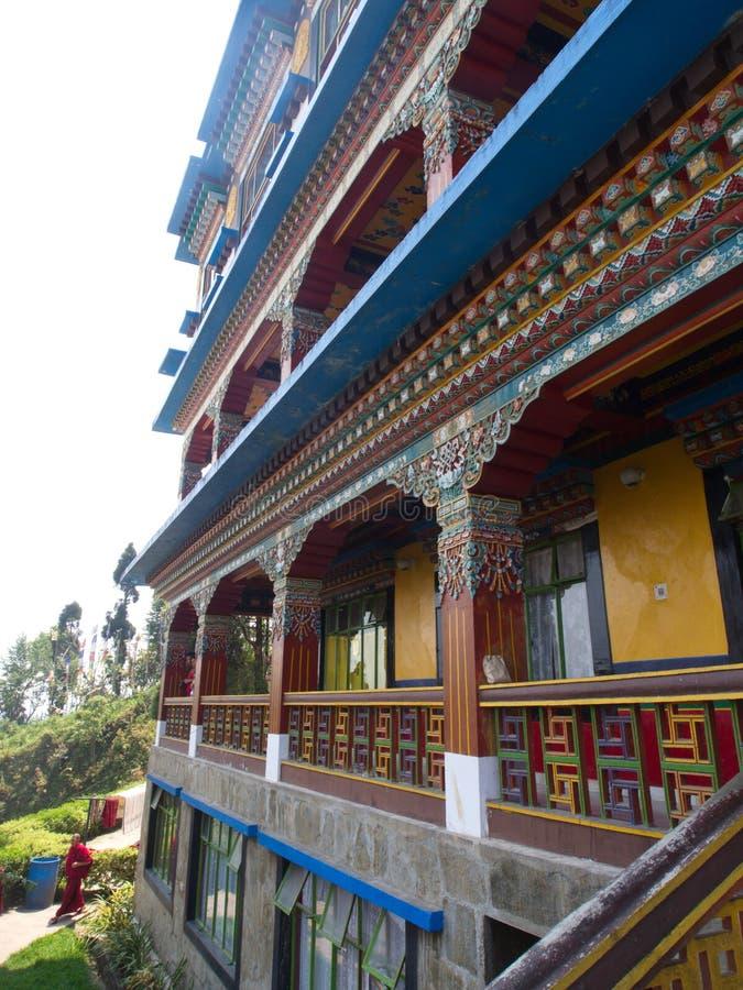 Monasterio de Rumtek cerca de Gangtok Sikkim, la India, 14 de abril 2013 fotografía de archivo
