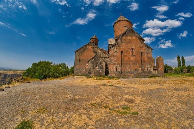 Monasterio de Saghmosavank de Armenia imagenes de archivo