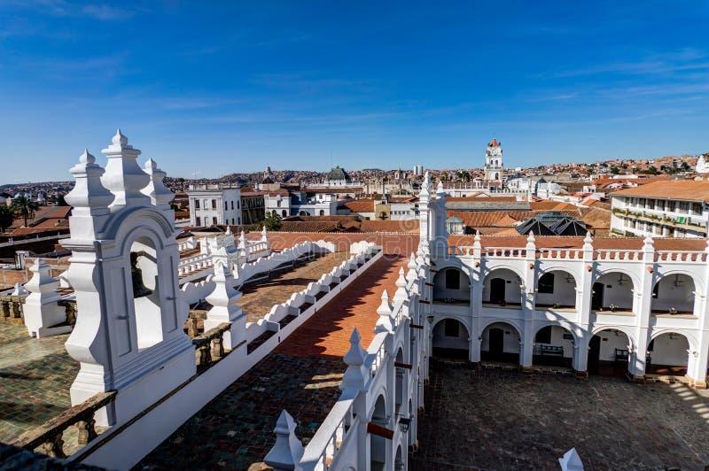 Monasterio de San Felipe Neri en Sucre Bolivia imagen de archivo