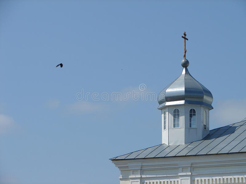 Monasterio de San Jorge en la ciudad rusa de la región de Meshchovsk Kaluga foto de archivo libre de regalías