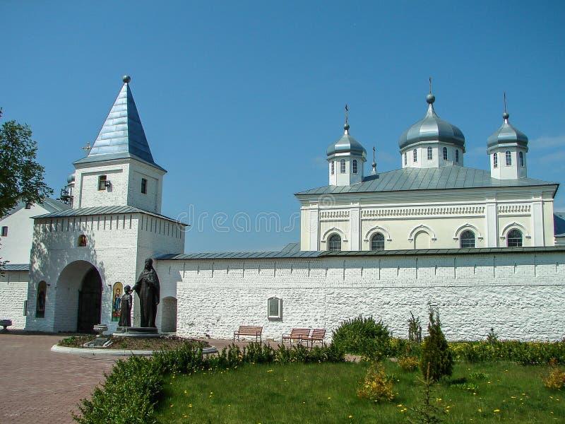 Monasterio de San Jorge en la ciudad rusa de la región de Meshchovsk Kaluga imagen de archivo