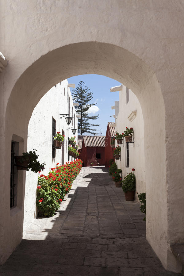 Monasterio DE Santa Catalina in Arequipa royalty-vrije stock afbeeldingen