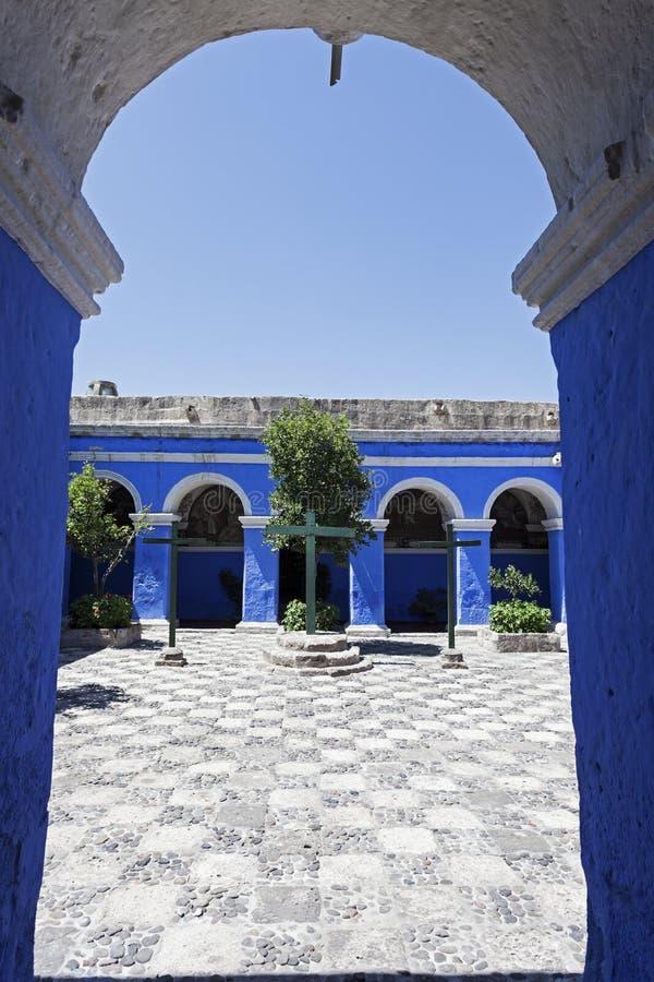 Monasterio de Santa Catalina i Arequipa fotografering för bildbyråer