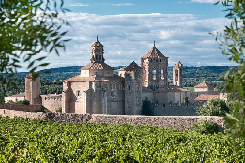 Monasterio de Santa María De Poblet, Cataluña imágenes de archivo libres de regalías