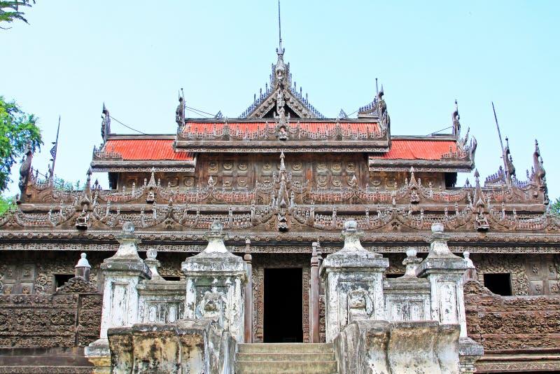 Monasterio de Shwenandaw, Mandalay, Myanmar fotografía de archivo