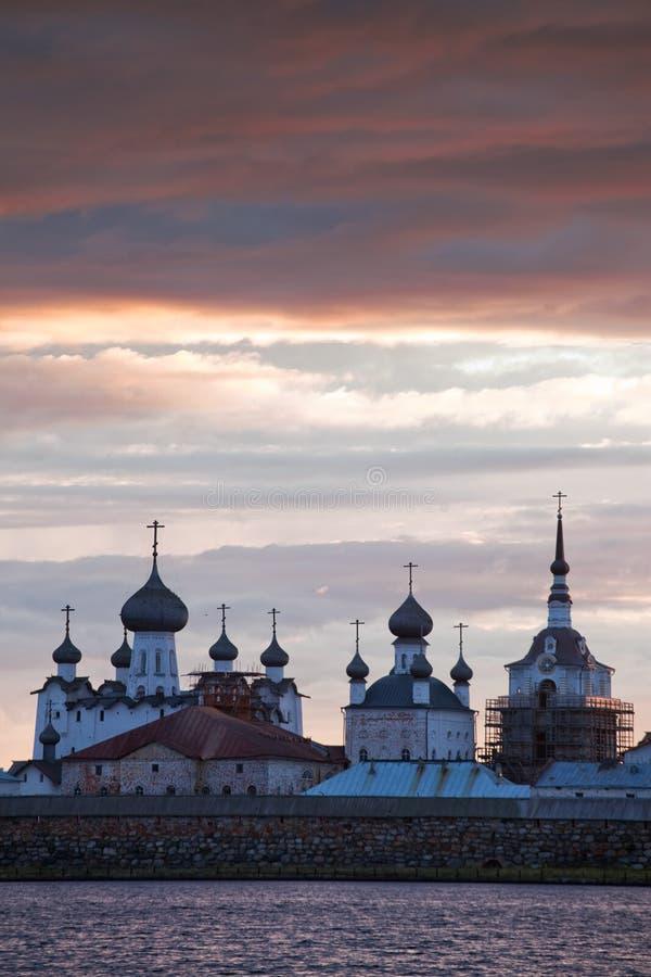Monasterio de Solovetsky imagen de archivo