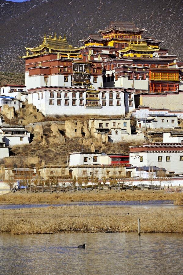 Monasterio de Songzanlin imágenes de archivo libres de regalías