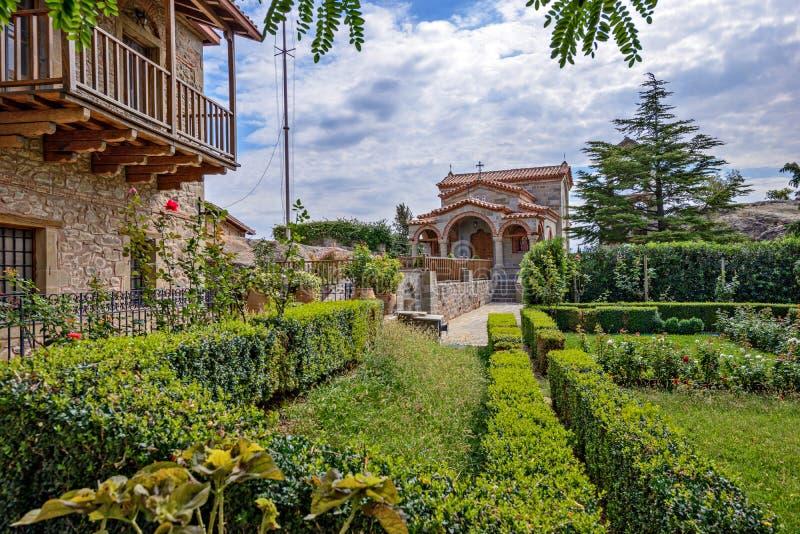 Monasterio de Stefano del agio de Meteora en Grecia fotografía de archivo libre de regalías
