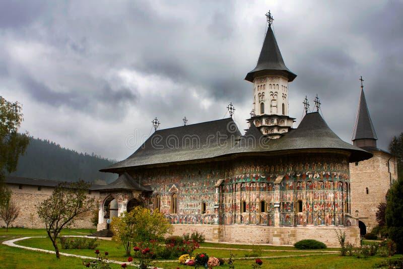 Monasterio de Sucevita, Bucovina Rumania imagen de archivo