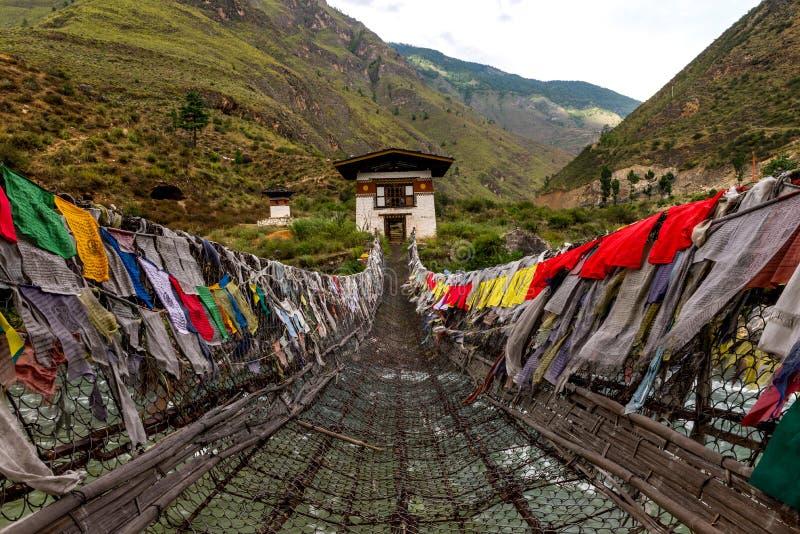 Monasterio de Tamchoe, Paro provincia Bhután septiembre de 2015 imagenes de archivo