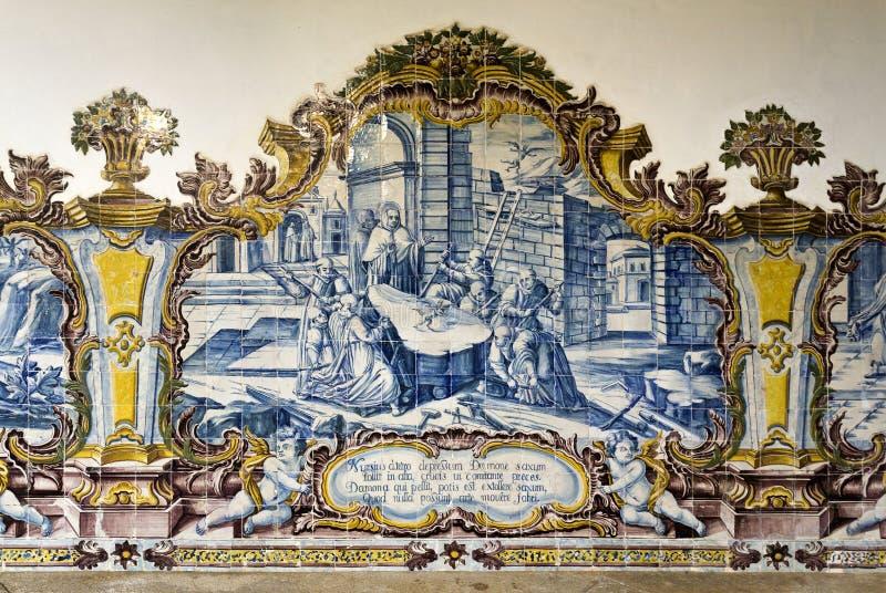 Monasterio de Tibaes del sao Martín imagen de archivo libre de regalías