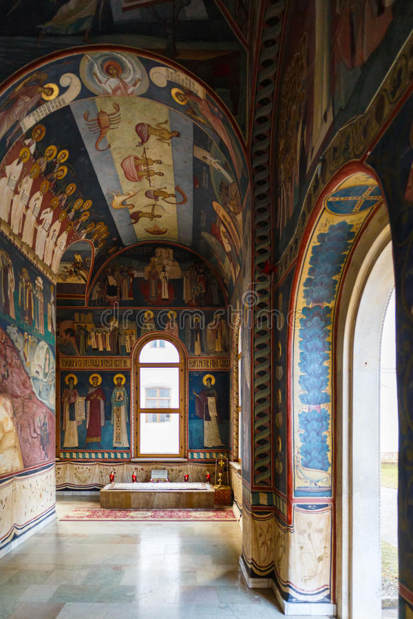 Monasterio de Tismana, Rumania imagen de archivo libre de regalías