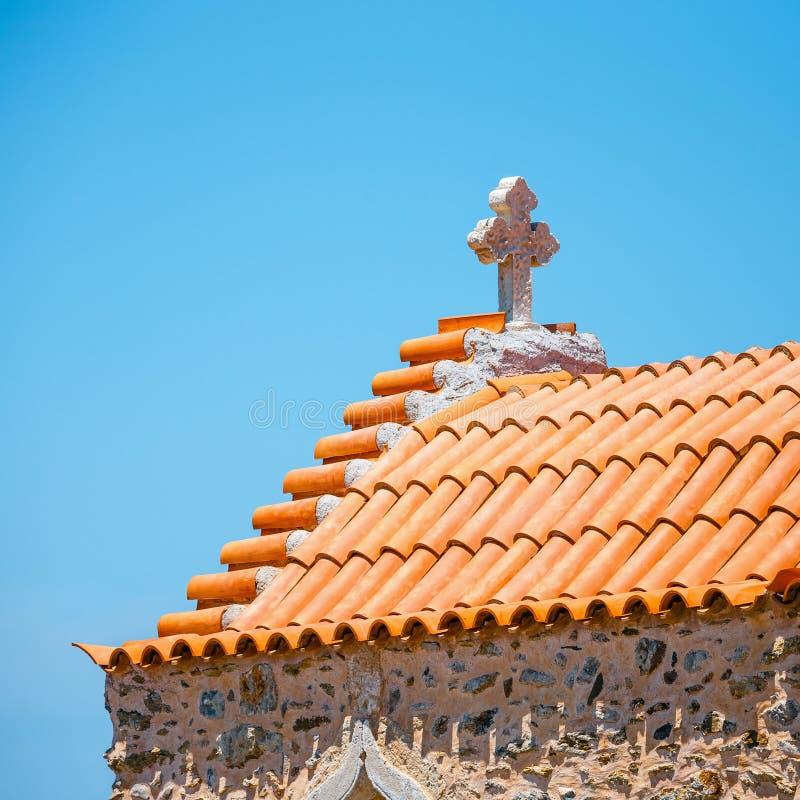 Monasterio de Toplou cerca de la playa de Vai, Creta foto de archivo libre de regalías