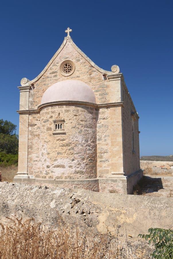 Monasterio de Toplou en la isla de Creta, Grecia fotografía de archivo libre de regalías