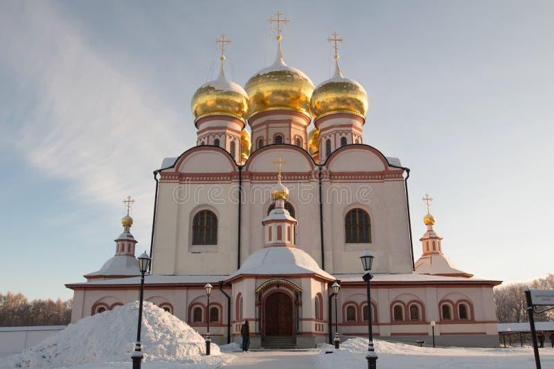 Monasterio de Valdai Iversky Svyatoozersky Bogoroditsky en Rusia fotos de archivo
