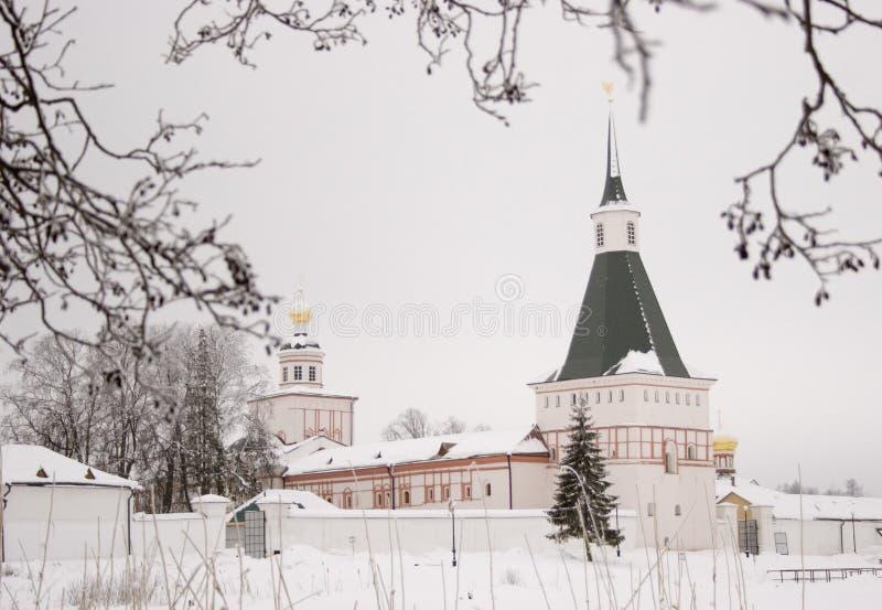 Monasterio de Valday en invierno fotos de archivo libres de regalías