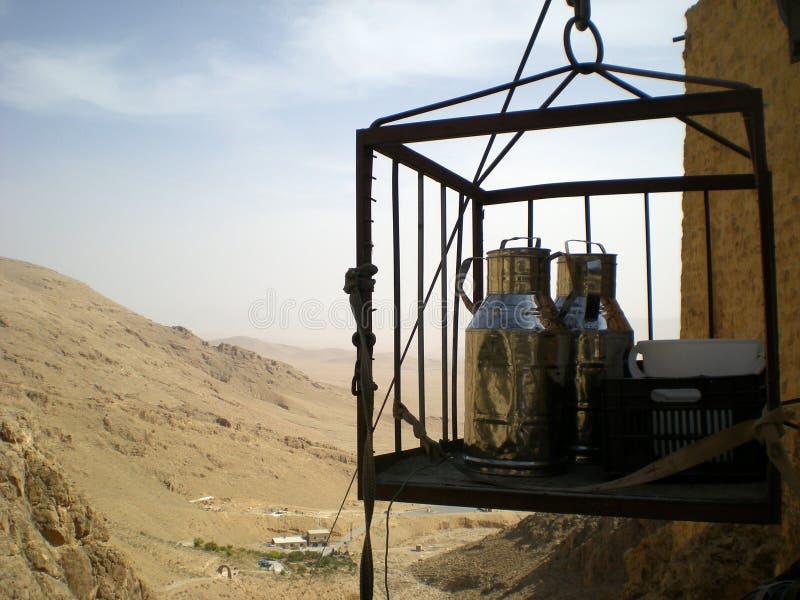 Monasterio del al-Habashi Nebek, Siria de Deir marcha Musa foto de archivo