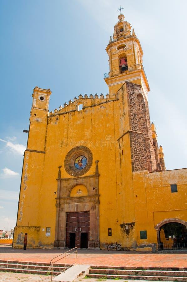 Monasterio del arcángel de Gabriel del santo, Cholula (México) fotografía de archivo
